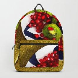 Kiwi and Pomegranate Seeds Backpack