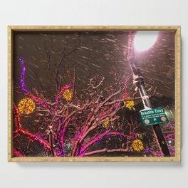 Longfellow Square Christmas Lights (4) Serving Tray