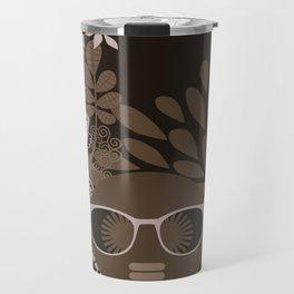 Afro Diva : Brown Sophisticated Lady Travel Mug