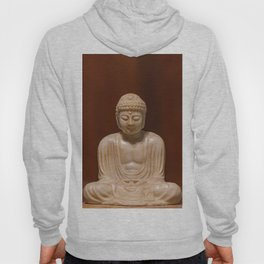 Statuette of Gautama Buddha in light marble in a prayer position Hoody