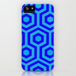 Hexagonal Blue iPhone Case