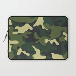 Army Green Camouflage Camo Pattern Laptop Sleeve