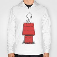 snoopy Hoodies featuring Snoopy by Simple Touch Apparel