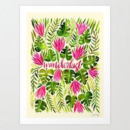 Tropical Wanderlust – Pink & Lime Art Print