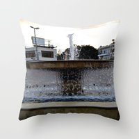 israel Throw Pillows featuring Israel Fountain by R. Nicole