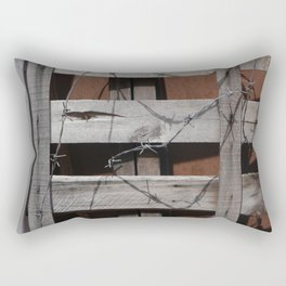 Untitled Planks with Barbs Rectangular Pillow