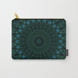 Mandala in dark green and blue tones Carry-All Pouch