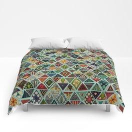 sun bear geo mint Comforters