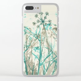 Abstract Botanical Clear iPhone Case