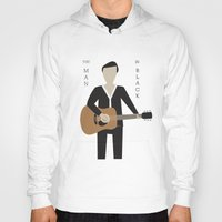 johnny cash Hoodies featuring Johnny Cash by Sarah Duet