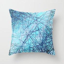 World Wide Web White & Blue Throw Pillow