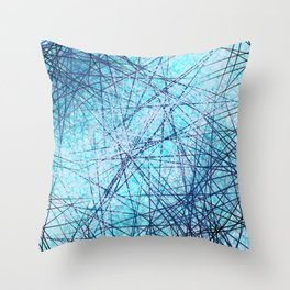 World Wide Web White & Blue Throw Pillow