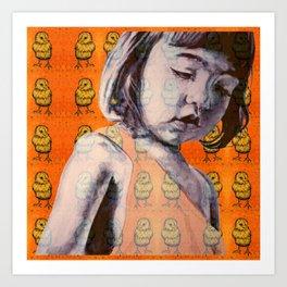 BIDDY GIRL Art Print
