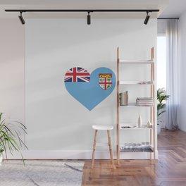 Fiji  love flag heart designs  Wall Mural