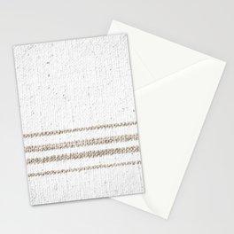 Vintage Farmhouse Grain Sack - Sandstone Stripes Stationery Cards