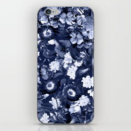 Bohemian Floral Nights in Navy iPhone Skin