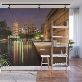 Indianapolis Skyline Wall Mural