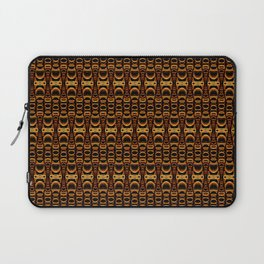 Dividers 07 in Orange Brown over Black Laptop Sleeve
