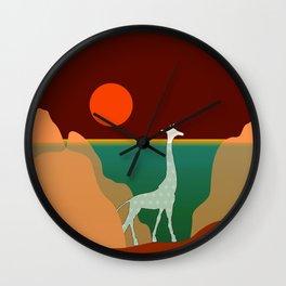 Giraffe Aquatic Scene Wall Clock