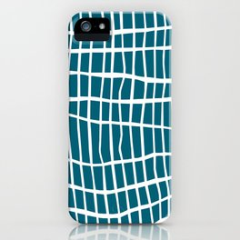 Net White on Blue iPhone Case