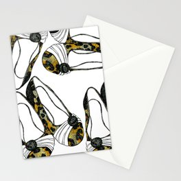 Animal Print Shoes Stationery Cards