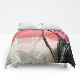 Train of thought: a vibrant abstract mixed media piece Comforters