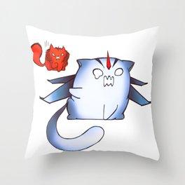 Starscream and Knockout dumpling cats Throw Pillow