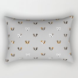 Jack Russell puppies Rectangular Pillow