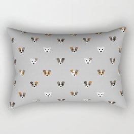 Jack Russell puppies Rectangular Pillow