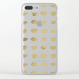 Kiss Collection – Gold Ink Clear iPhone Case