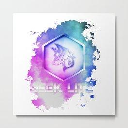 Geek Lite 3 Year Anniversary - Rainbow Style Metal Print