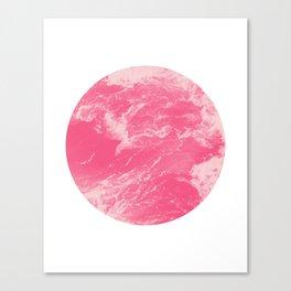 Pink Ocean Waves Canvas Print