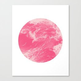 Pink Ocean Waves Canvas Print