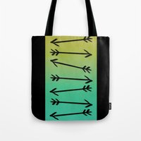 arrows Tote Bags featuring Arrows by Leah Flores