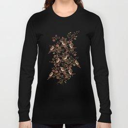 Sparrow Tree - Seamless Pattern Long Sleeve T-shirt