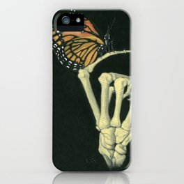 Butterfly & Bones iPhone Case