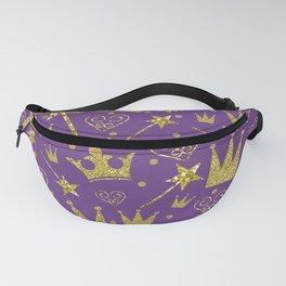 Purple & Gold Glitter Princess Fanny Pack