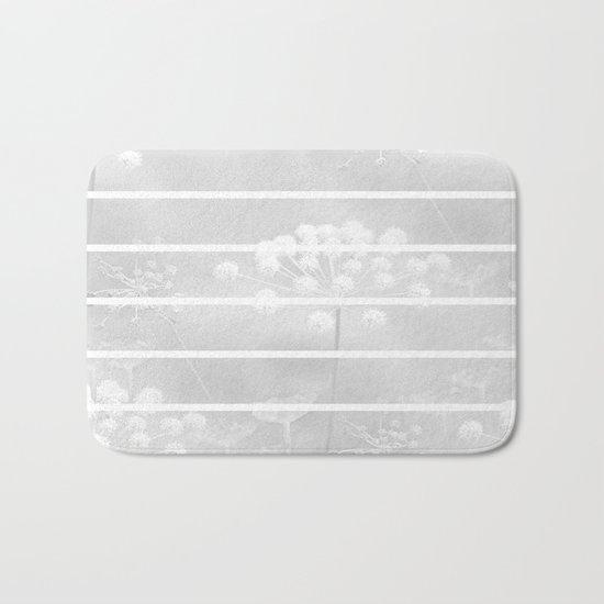 Grey And White Bath Mat