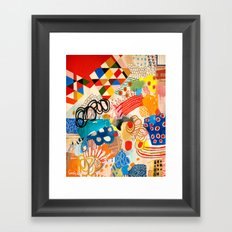 Wallpaper and Diamonds Part I Framed Art Print