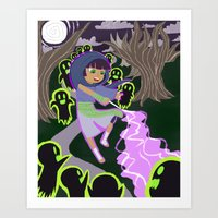 Ghost Battle Art Print