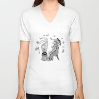 spiritual V-neck T-shirts featuring Spiritual Beginning by Astrablink7