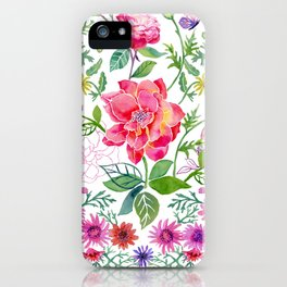 Bowers of Flowers iPhone Case