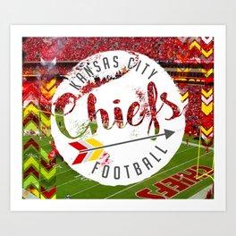Chiefs Arrow at Dusk Art Print