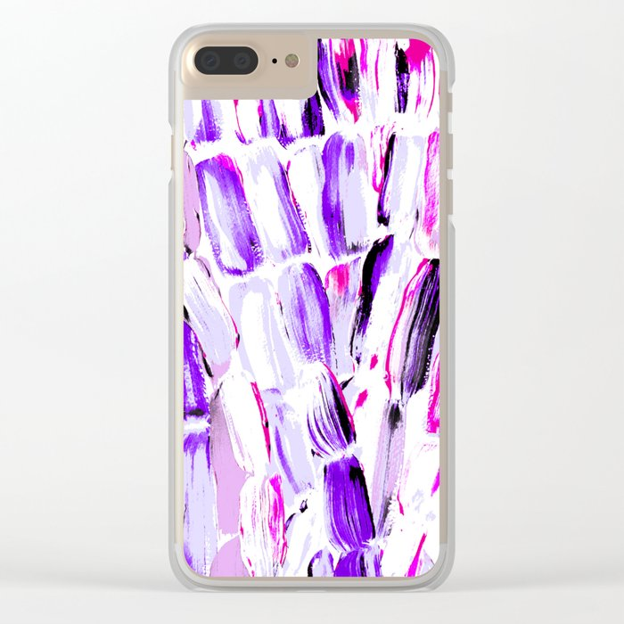 Lavender Spring Sugarcane Clear iPhone Case