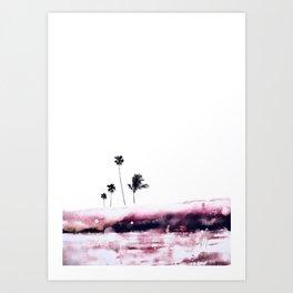 Palm 04 (Pink) Art Print