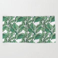 Exotic Tropical Banana Palm Leaf Print Beach Towel