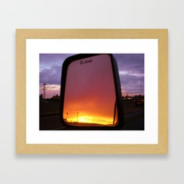 Objects in the mirror Framed Art Print