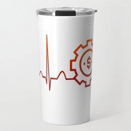 BUSINESS MANAGER HEARTBEAT Travel Mug