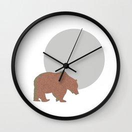Bear at night Wall Clock