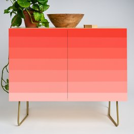 Cherry Tomato - Living Coral - Millennial Pink Ombre Credenza